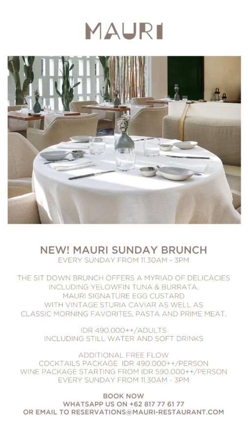 MAURI Restaurant Sunday Brunch