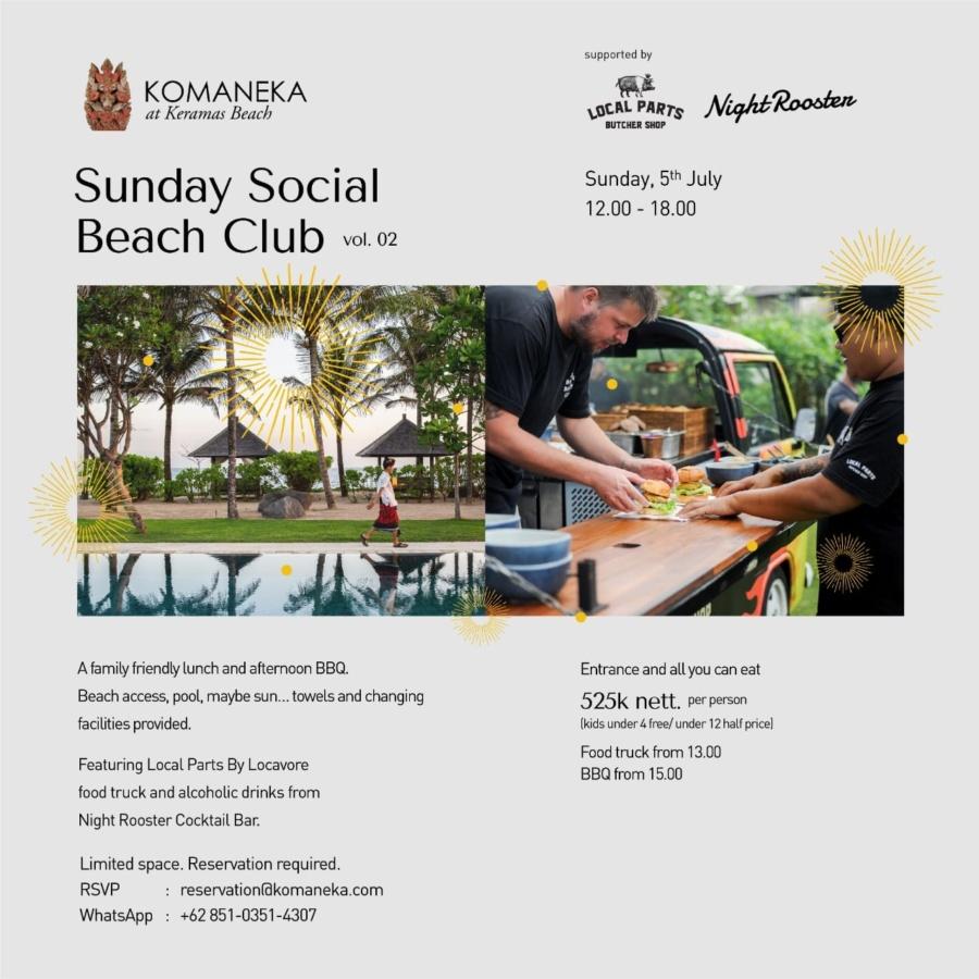 Sunday Social Beach Club Vol. 02 @ Komaneka at Keramas Beach