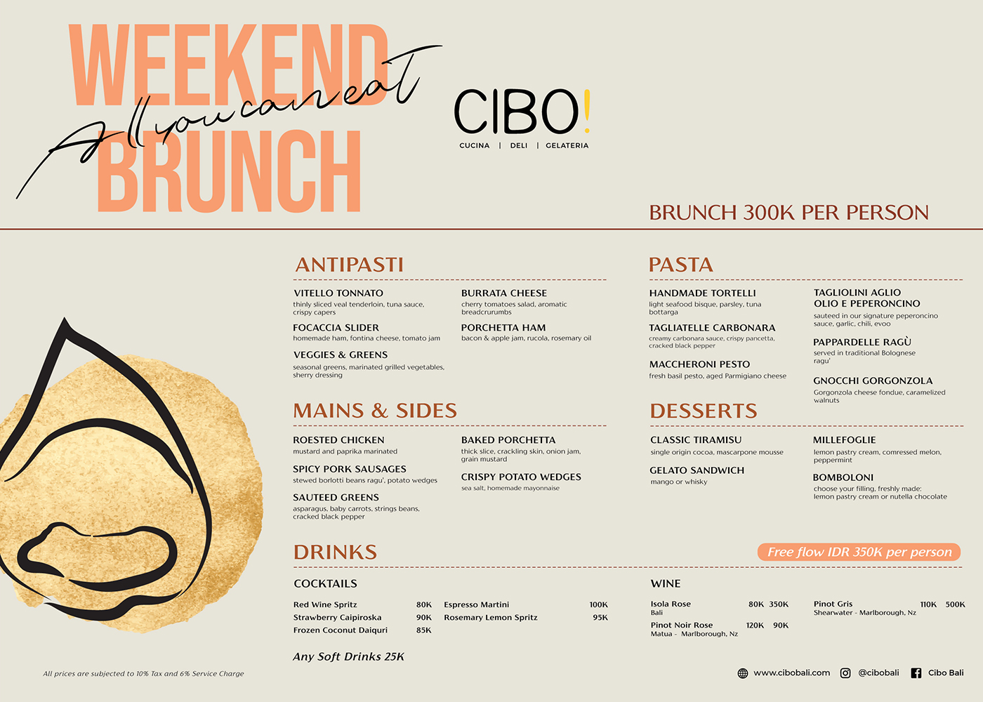 CIBO! ITALIAN WEEKEND BRUNCH
