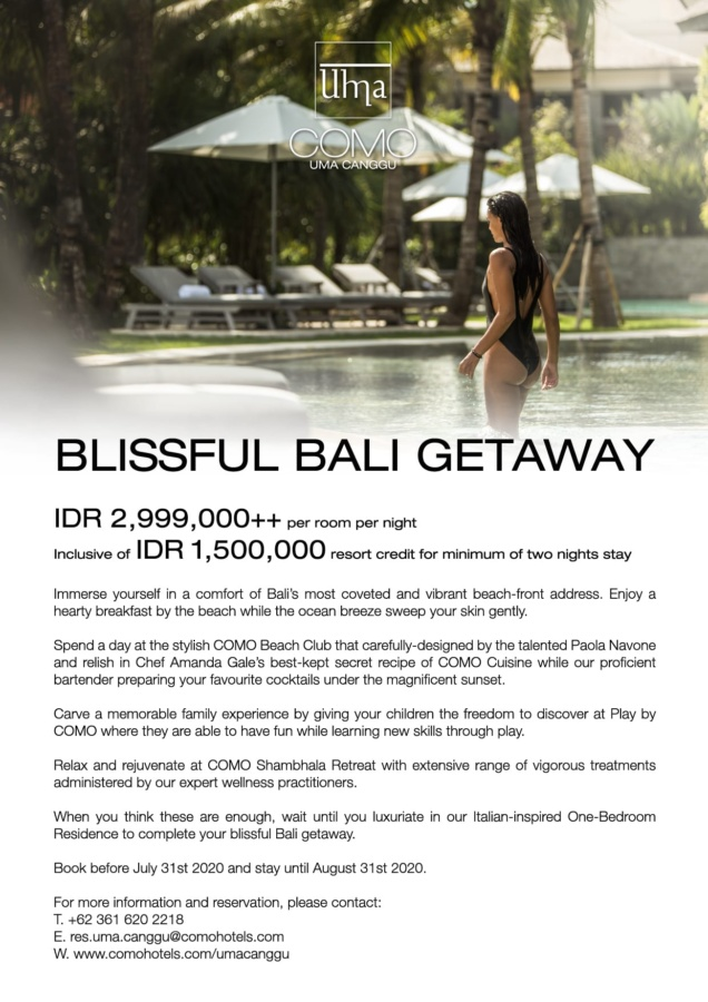 Blissful Bali Getaway at COMO Uma Canggu