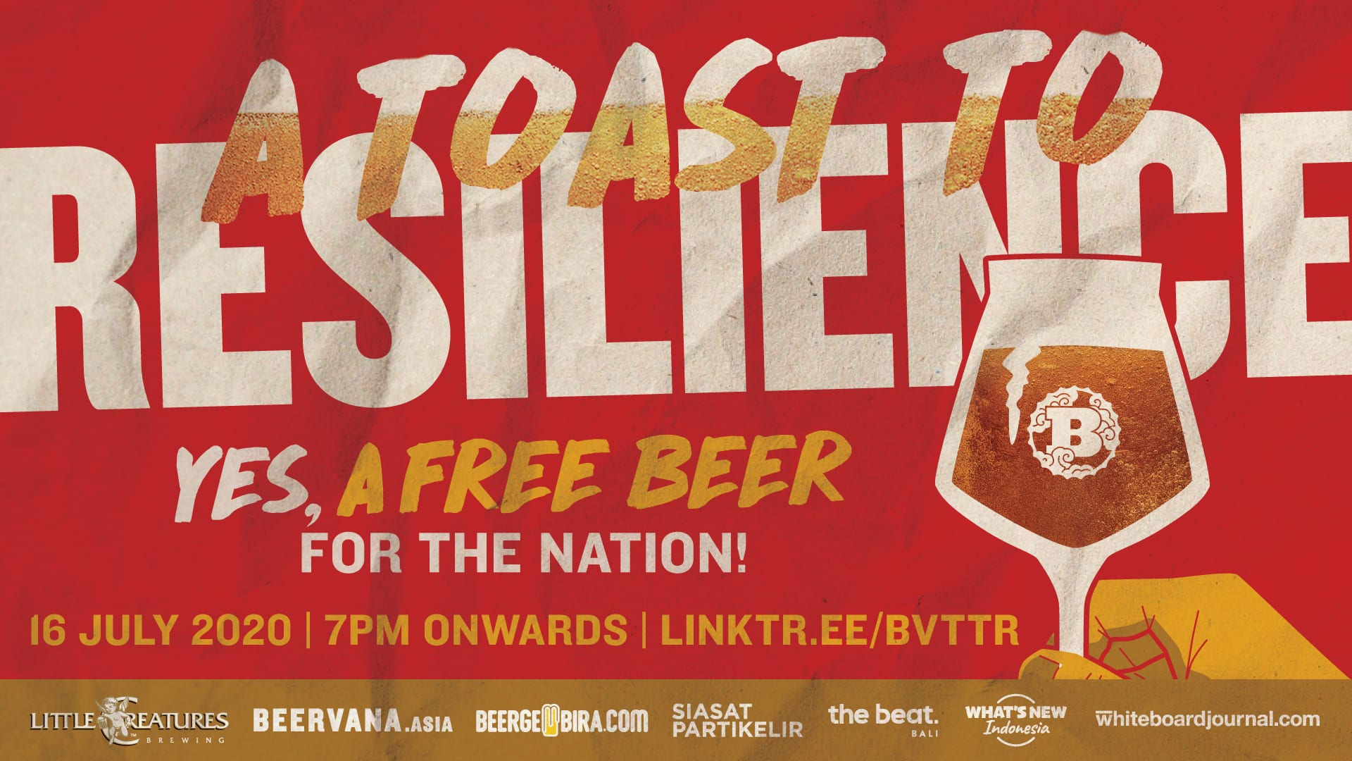 Beervana & Little Creatures Brewery Toast To Resilience