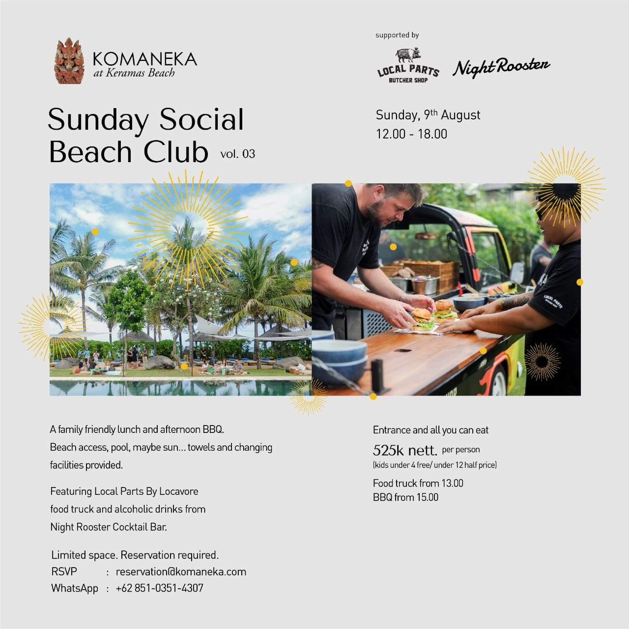 Sunday Social Beach Club Vol. 03 @ Komaneka at Keramas Beach