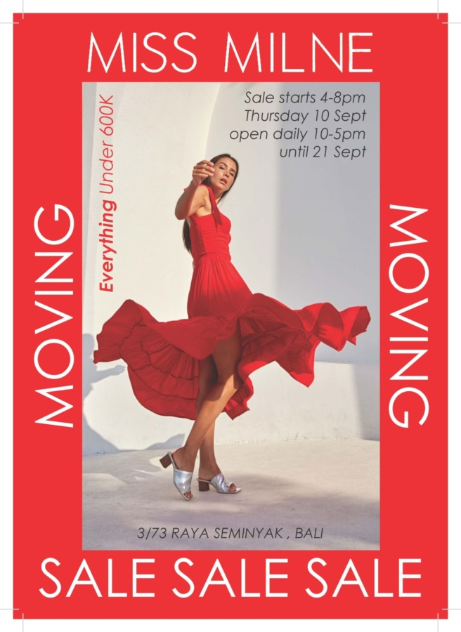 Miss Milne Moving Sale 3/73 Raya Seminyak