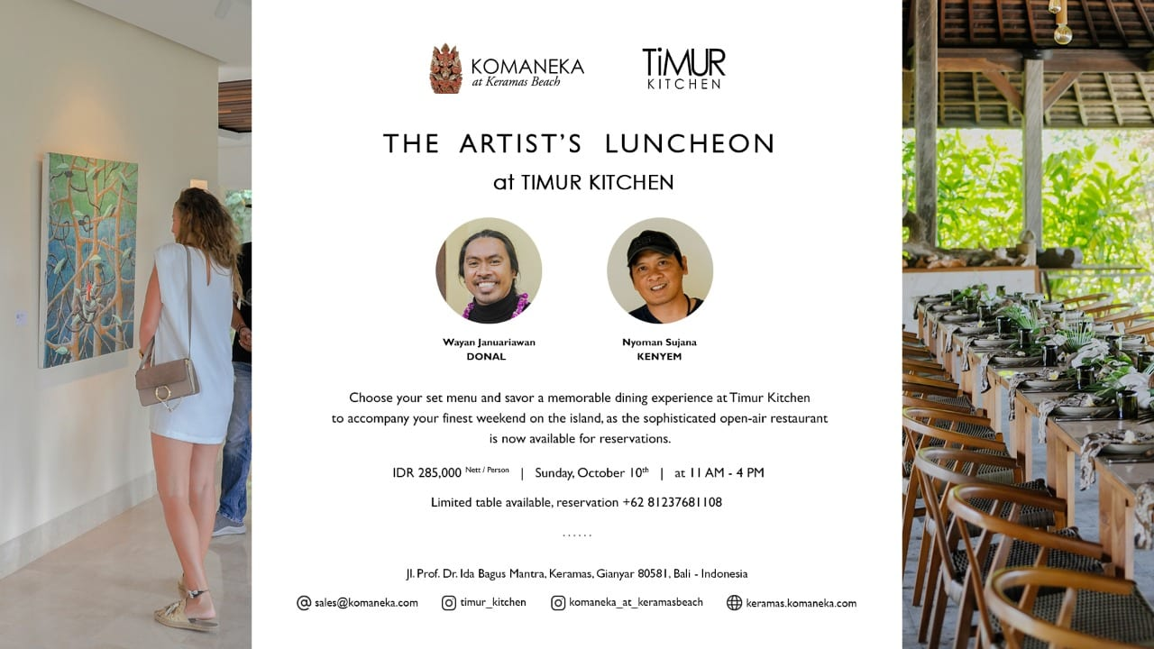 The Artist's Luncheon at Komaneka at Keramas Beach