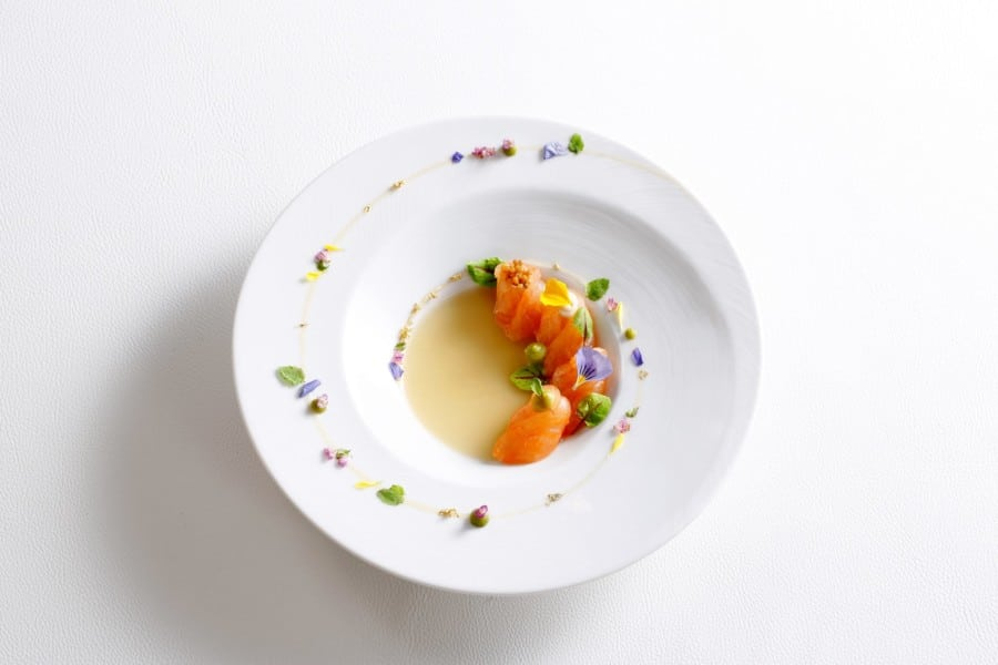 luxury restaurants on Hong Kong Island Tate Dining Room dish