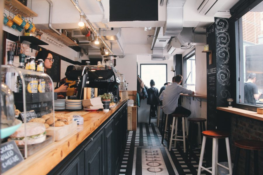 good cafes in hong kong Winstons Coffee interior