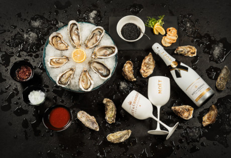 best happy hour hong kong oysters Champagne