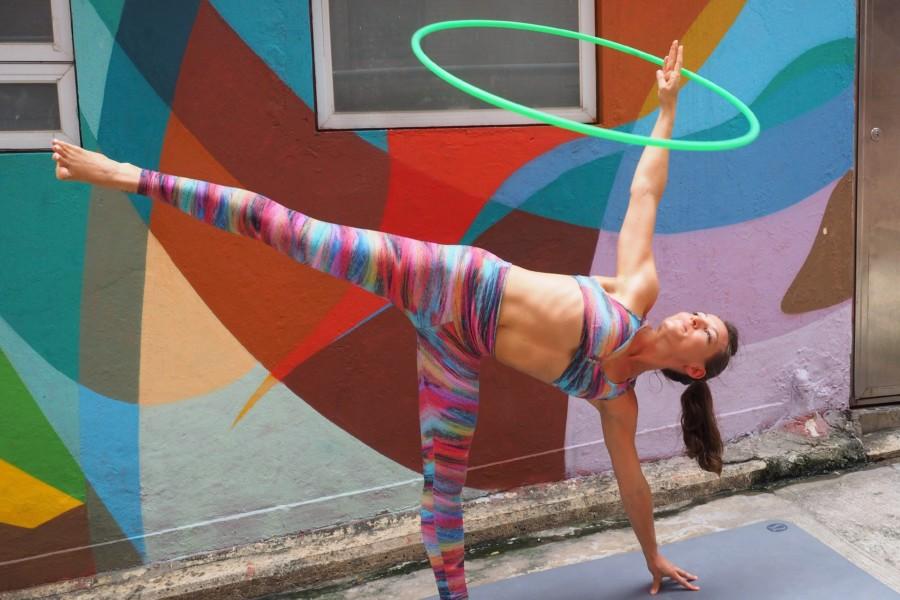 Turning Circles girl doing hula hoop
