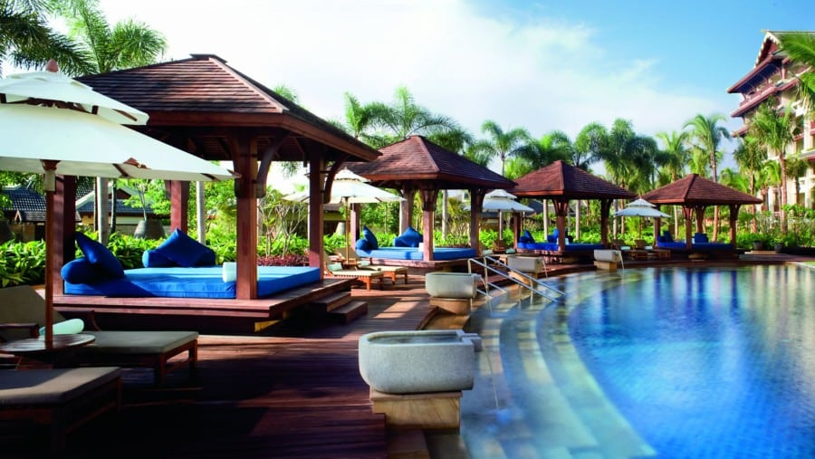 resorts in China Ritz-Carlton pool Sanya