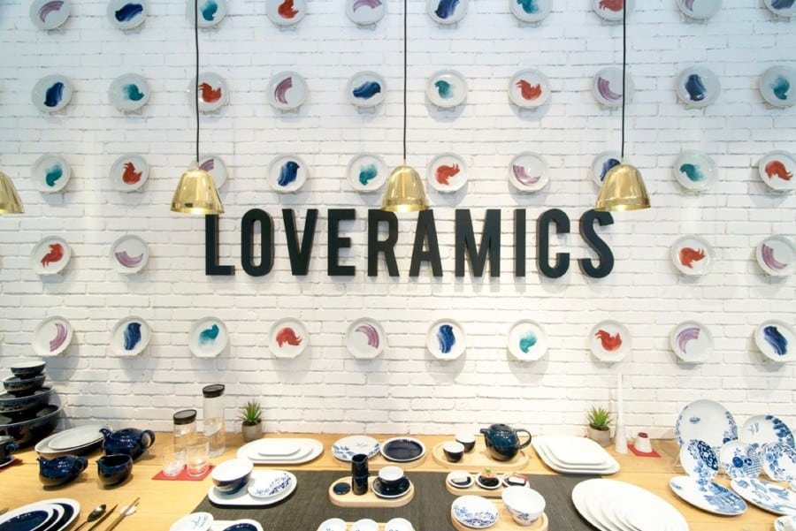 Loveramics cermaics store Causeway Bay interior