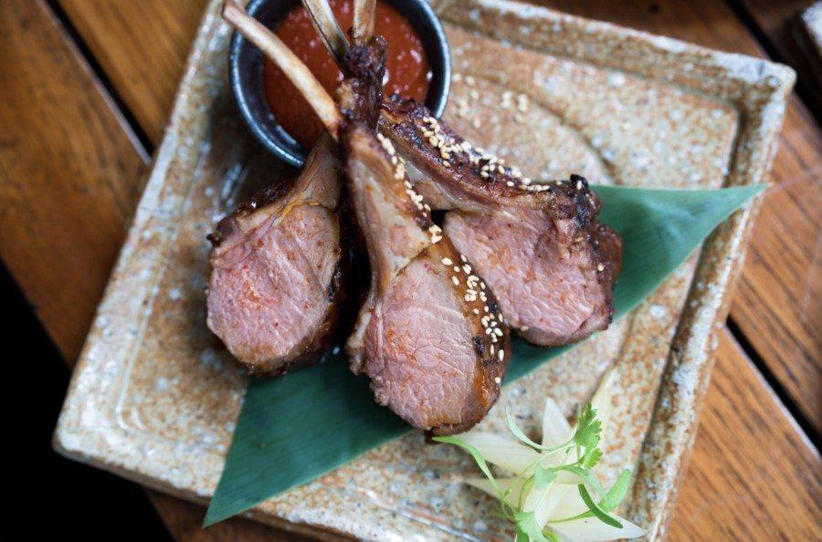 Zuma Japanese restaurant lamb cutlets
