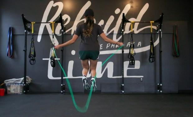 fun workouts in Hong Kong girl skipping