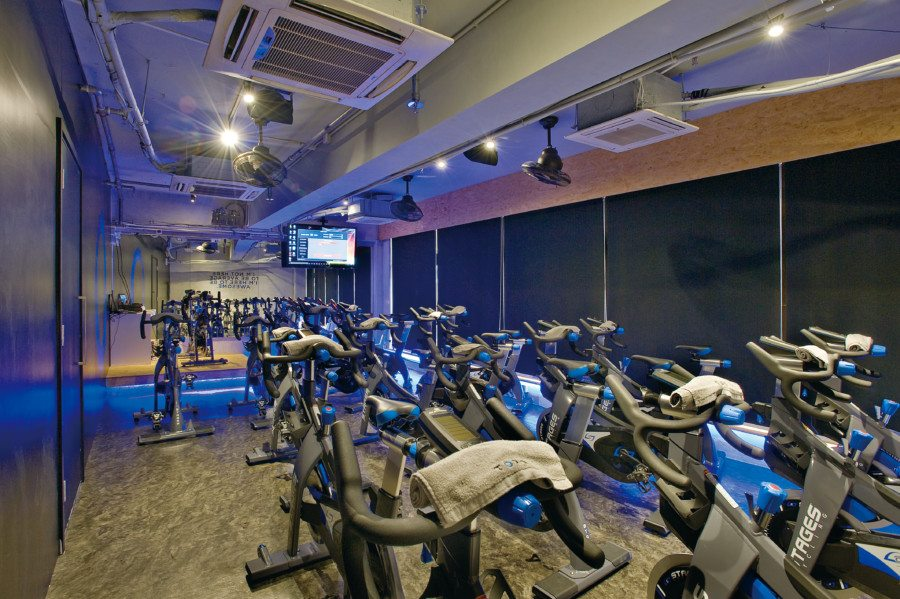 Torq fitness studios Hong Kong spin room