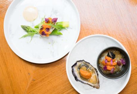 Upper Modern Bistro uni three ways restaurant Hong Kong
