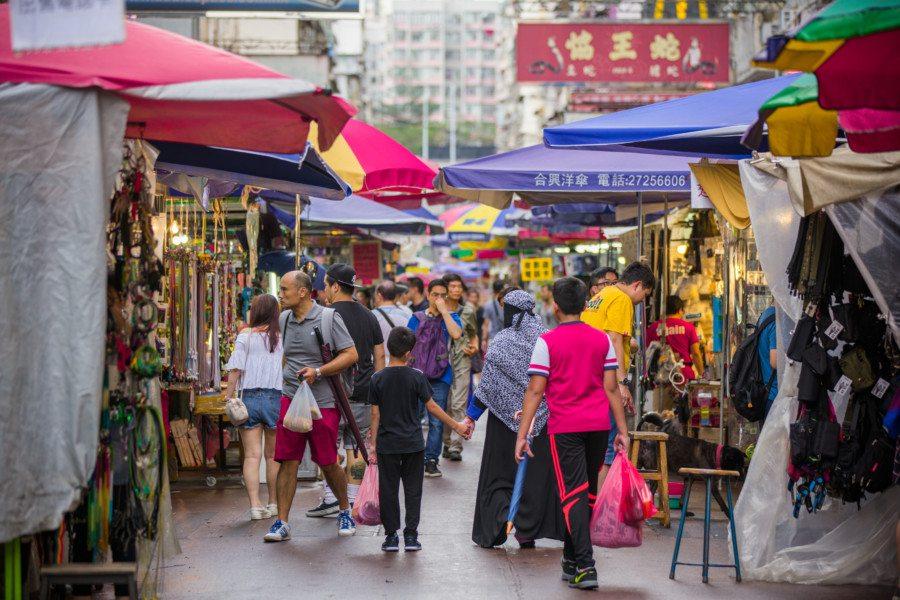 Hong Kong markets flea market Sham Shui po street