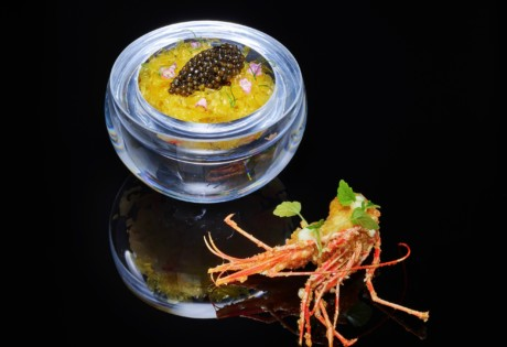 Le Pan Kowloon Bay French restaurant fine dining Hong Kong Kaluga Queen Hybrid caviar sea urchin botan shrimps crustacean jelly resized