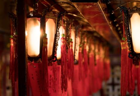 Buddhist temple Hong Kong lanterns