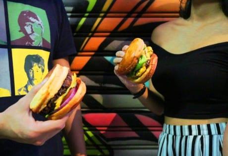Wan Chai burger restaurant Hong Kong Burger Joys cheeseburger