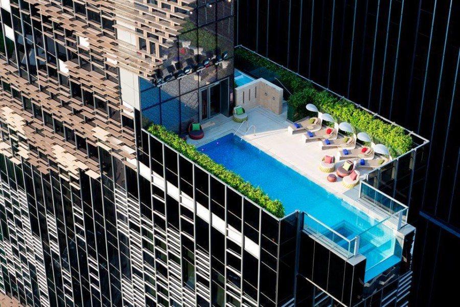 wan chai hotels Hotel Indigo rooftop swimming pool