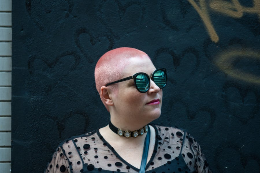 good hair salons in Hong Kong O2 Hair Studio pink hair buzzcut