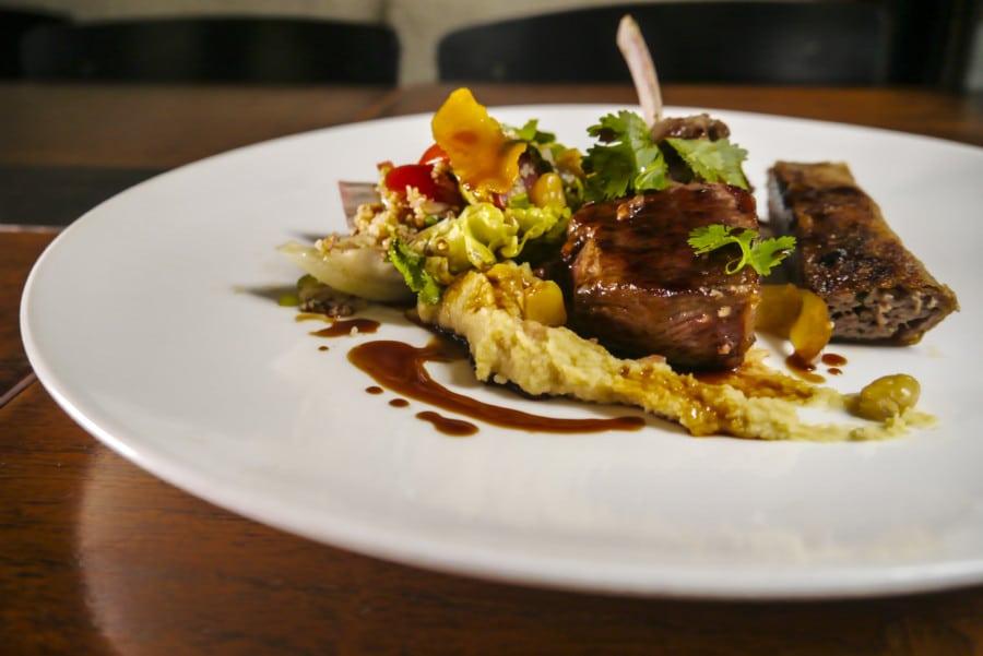 A.O.C Eat & Drink lamb dish
