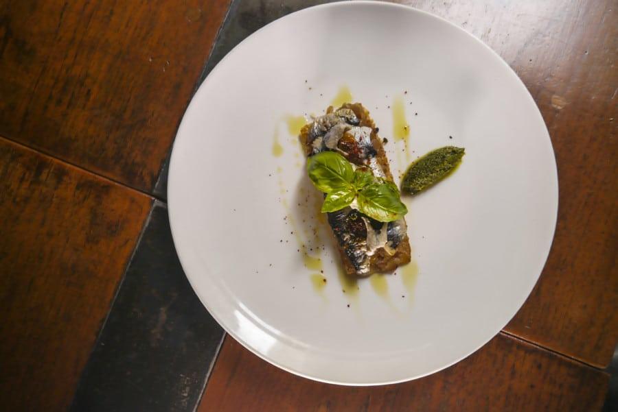 A.O.C. Eat & Drink sardines on toast