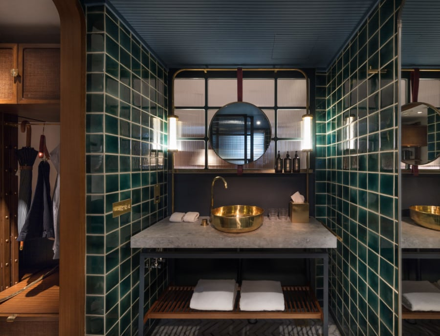 The Fleming Hong Kong boutique hotel design A work of Substance bathroom