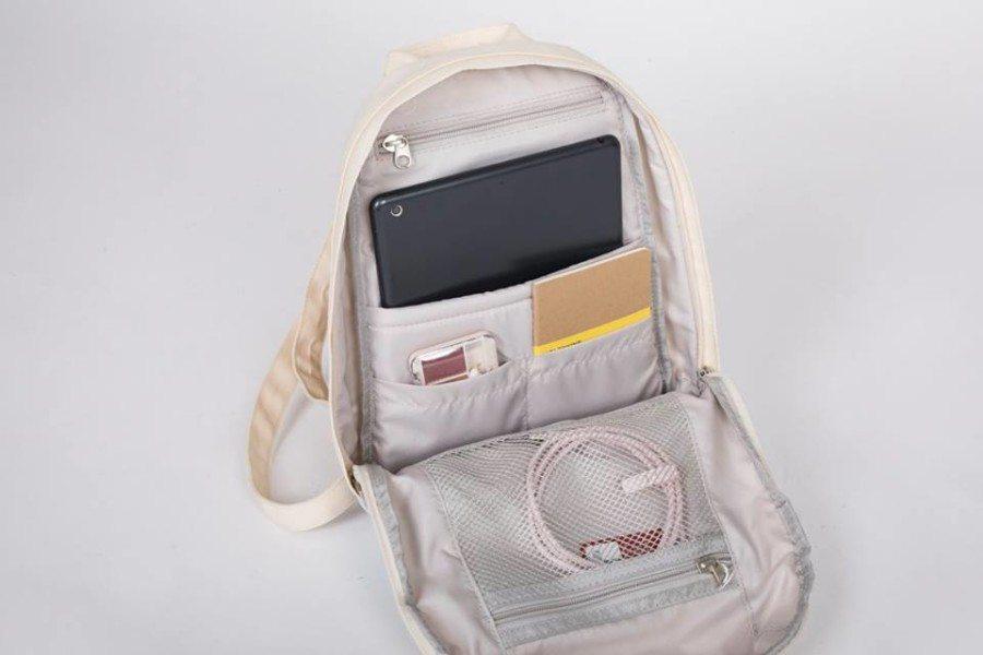 shop bags in Hong Kong backpack Doughnut interior of bag