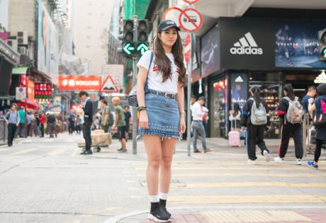 Mong Kok pop culture girl on the street