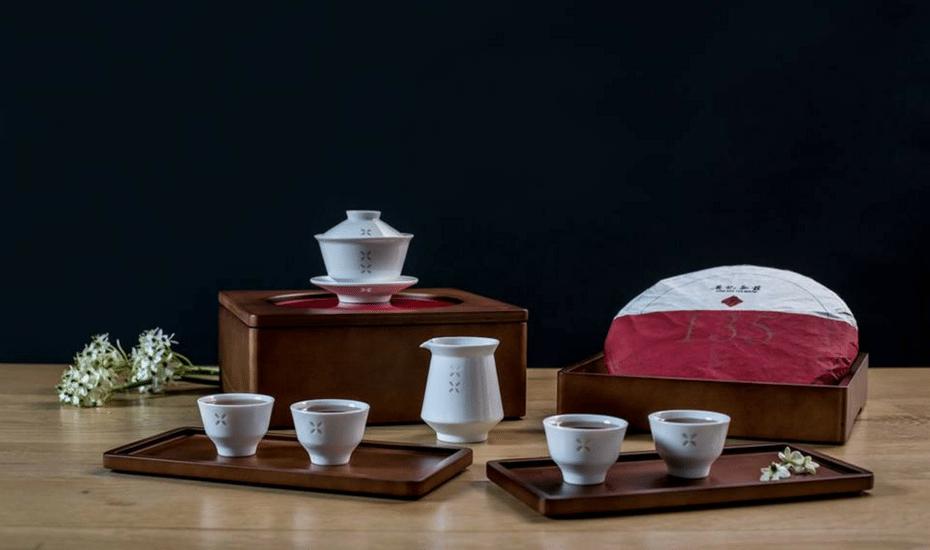 Hong Kong tea houses Ying Kee tea House tea set