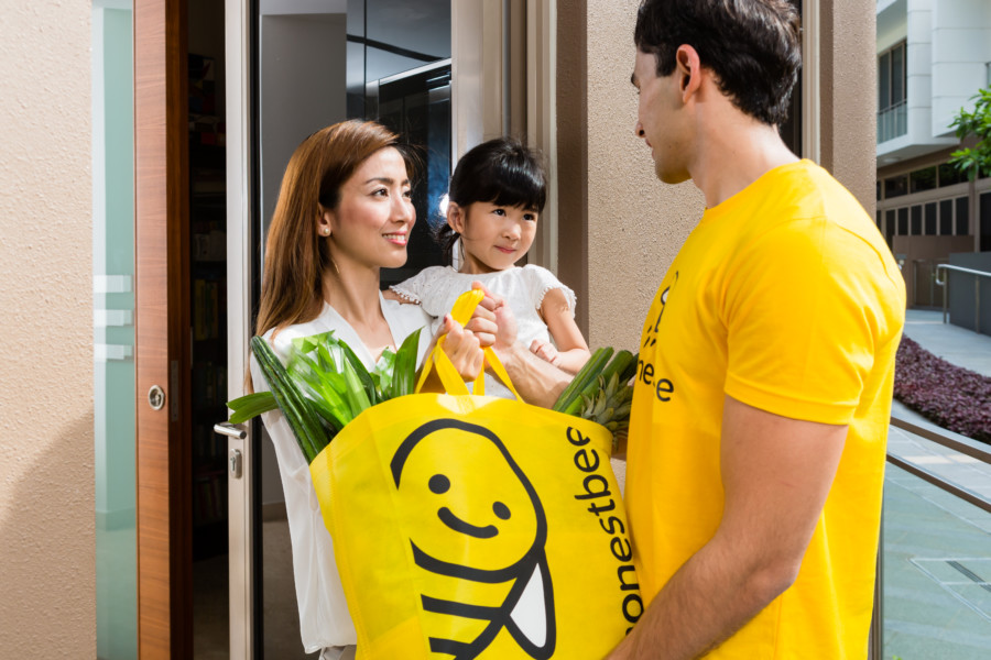 honestbee fresh food delivery services in Hong Kong fresh food delivery organic vegetables meat online grocery