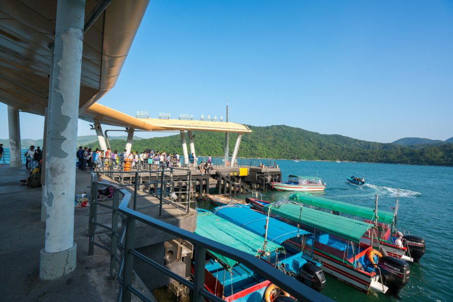 camping in Tap Mun ferry pier