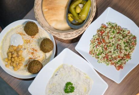 Falafel TLV baba ghanoush Israel Middle Eastern Graham Street Central restaurant food