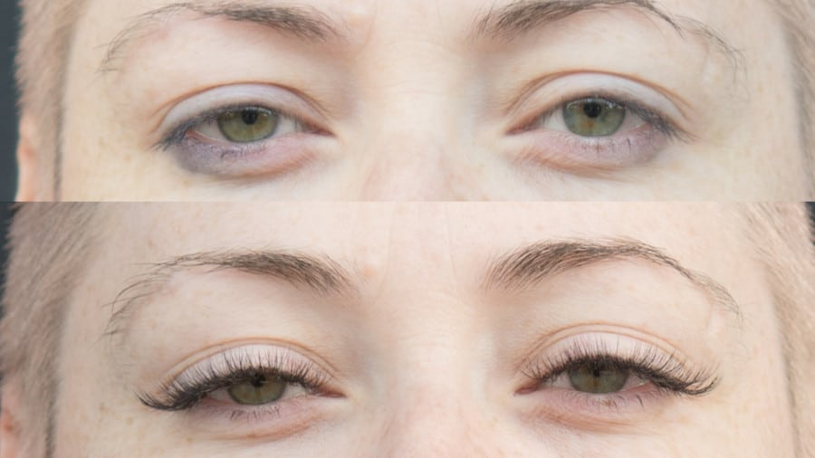 Browhaus before and after lashes