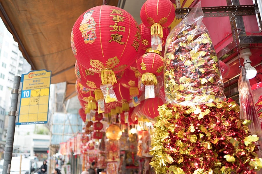 Chinese New Year in Hong Kong Sai Ying Pun