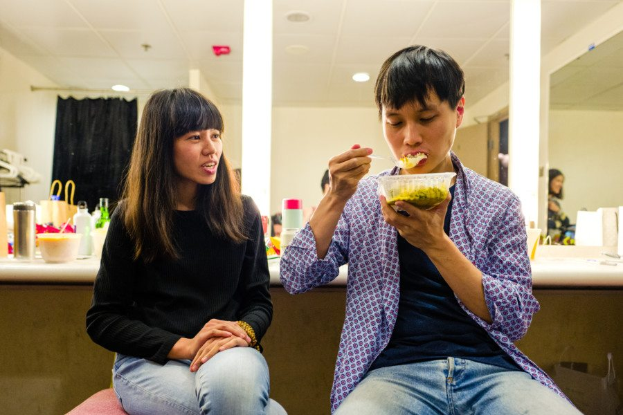 Lam Ah P Nicole OuJian eating My Little Airport Hong Kong indie band indie pop