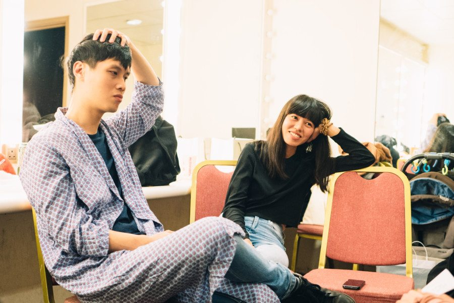 Lam Ah P Nicole OuJian talking My Little Airport Hong Kong indie band indie pop