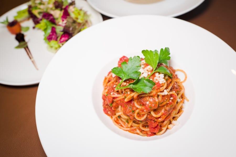 Mirror & Vegan Concept vegan vegetarian restaurant Hong Kong pasta salad
