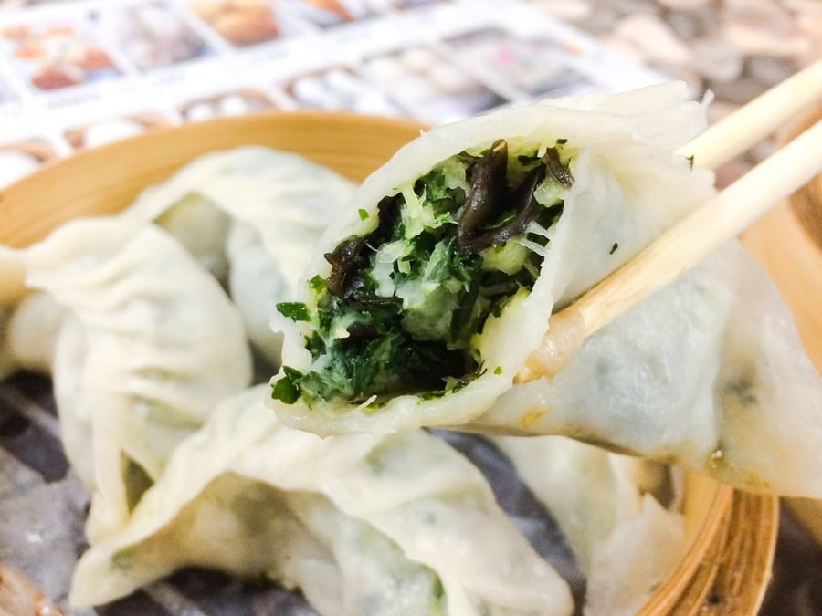Shanghai Bao Jiao Dian Vegetarian dumplings in Hong Kong vegan vegetarian dumplings in Hong Kong