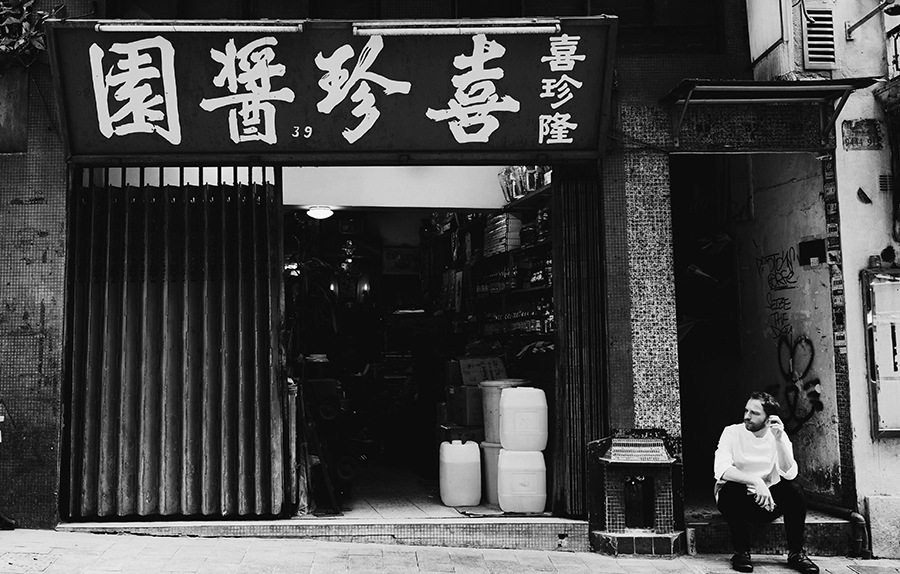 black and white photography Hong Kong Wan Chai