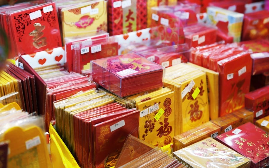 chinese new year decorations symbolism red pockets