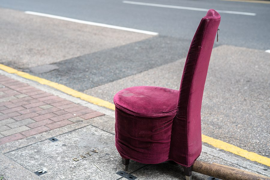 Photo Essay Weird Things on Streets Abandoned chair