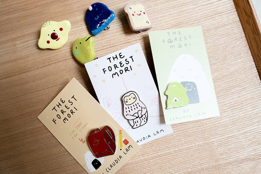 The Forest Mori Claudia Lam Hong Kong Perth Etsy brooches pins1