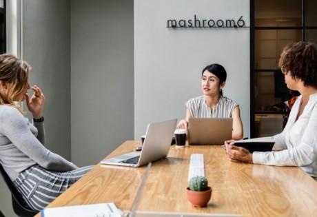 coworking spaces in Hong Kong women in a
