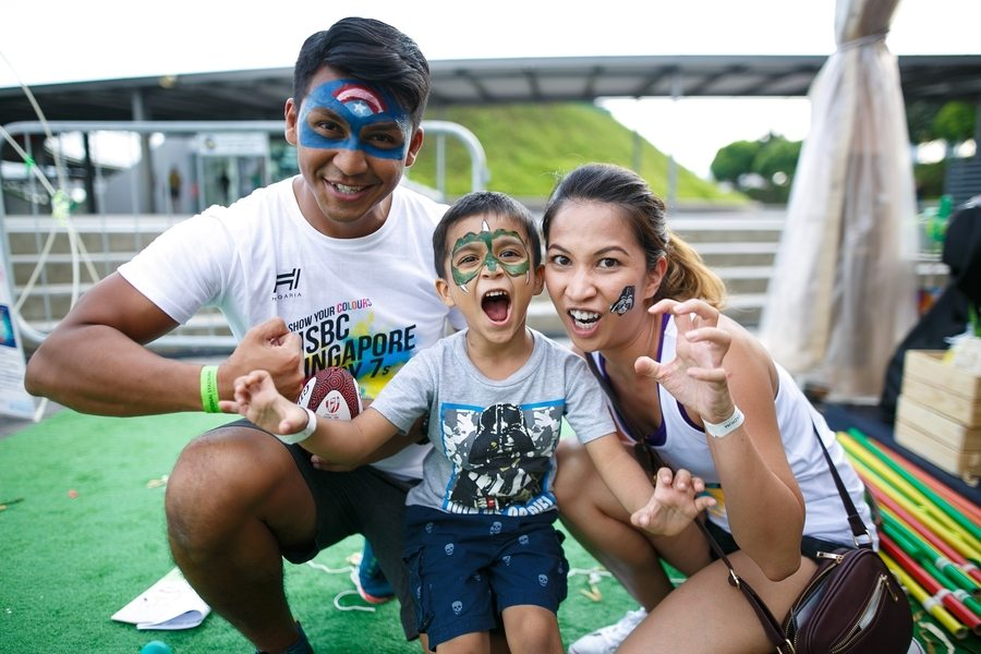 HSBC Singapore rugby sevens family
