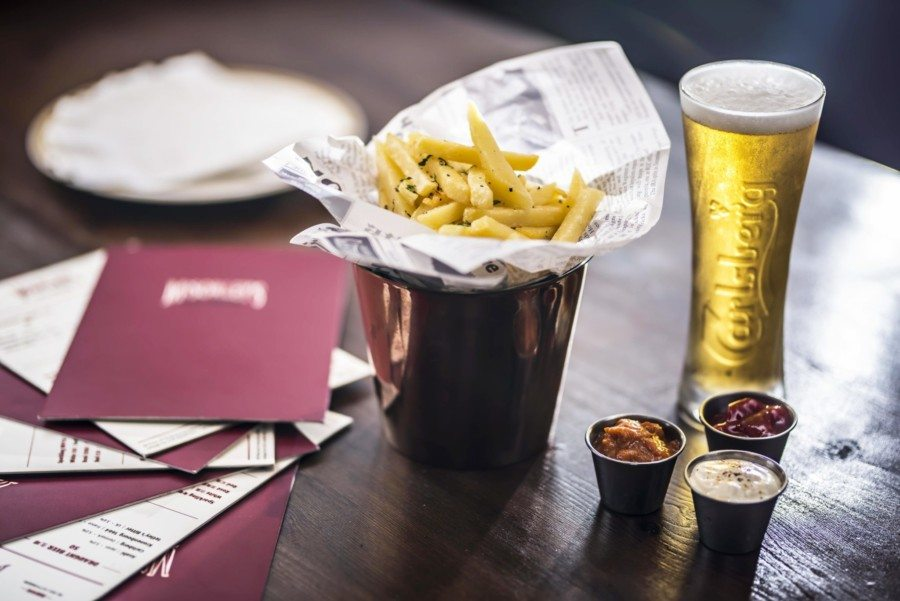 McSorley's Irish bar Hong Kong beer and fries