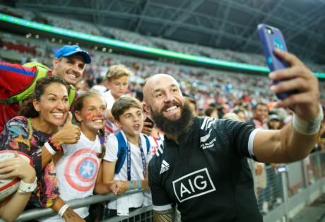 HSBC Singapore rugby Sevens DJ Forbes