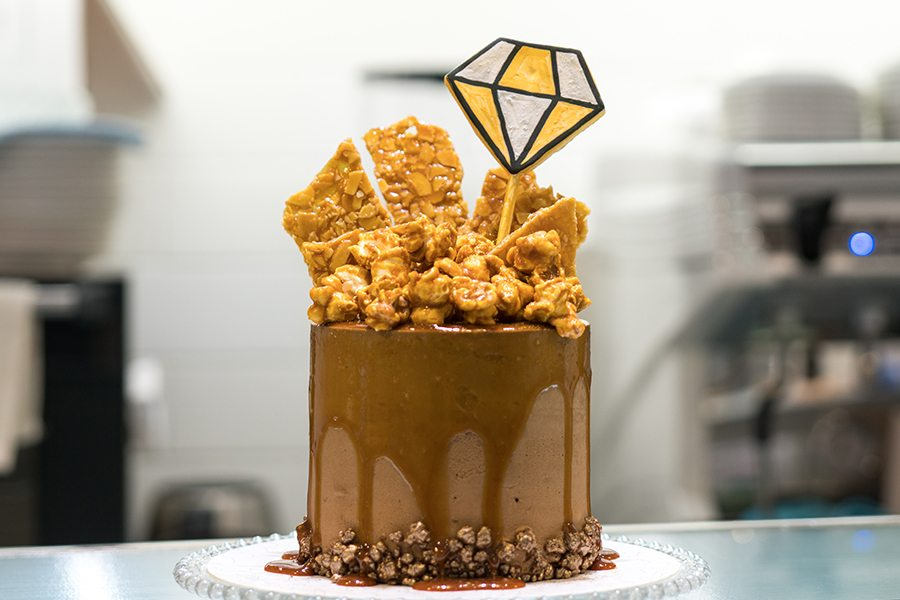 vive cake boutique chocolate cake with honeycomb