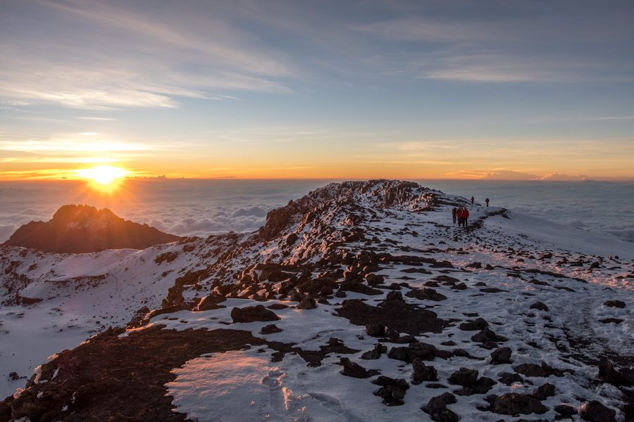 climbing Mount Kilimanjaro Melanie Cox snow view from top