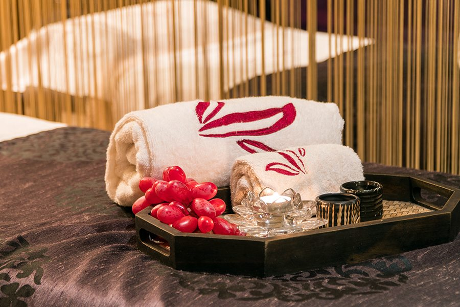 Sense of Touch Hong Kong spa room towel